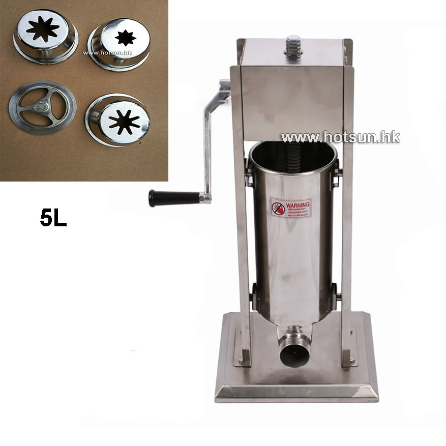 Free Shipping 5L Stainless Steel Manual Vertiacal Churros Machine Maker