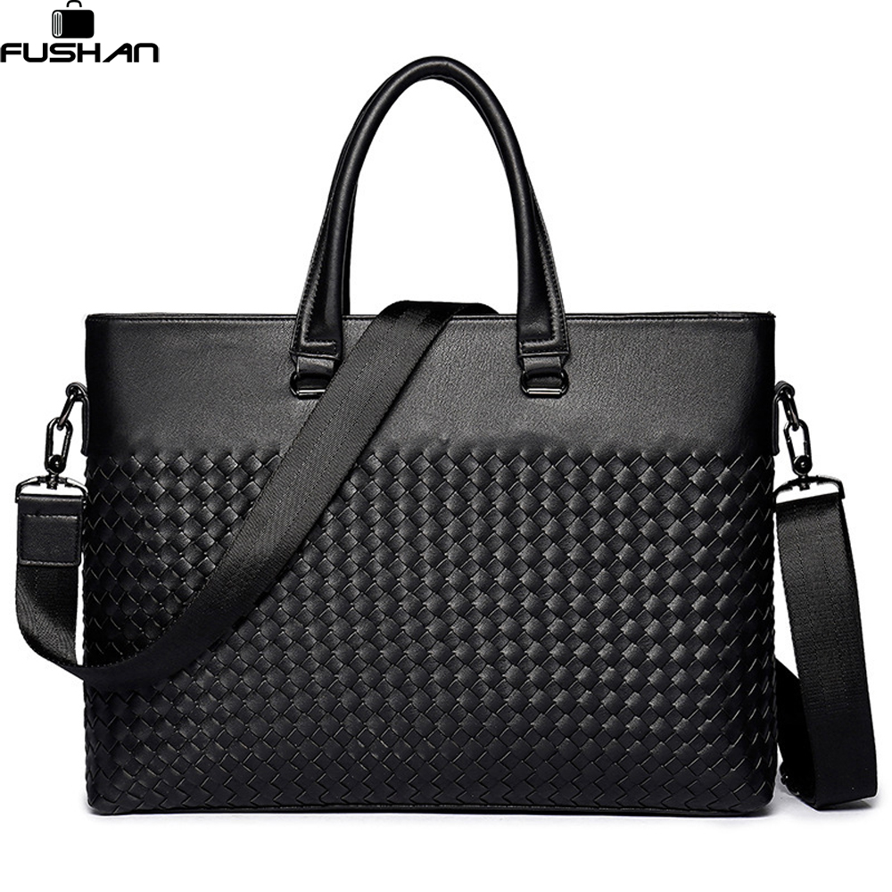 Young fashion Men Laptop Bag Shoulder Bags Business Men's Leather Tote Bag for Men Messenger bags Mens Handbags New Briefcase mva genuine leather men bag business briefcase messenger handbags men crossbody bags men s travel laptop bag shoulder tote bags