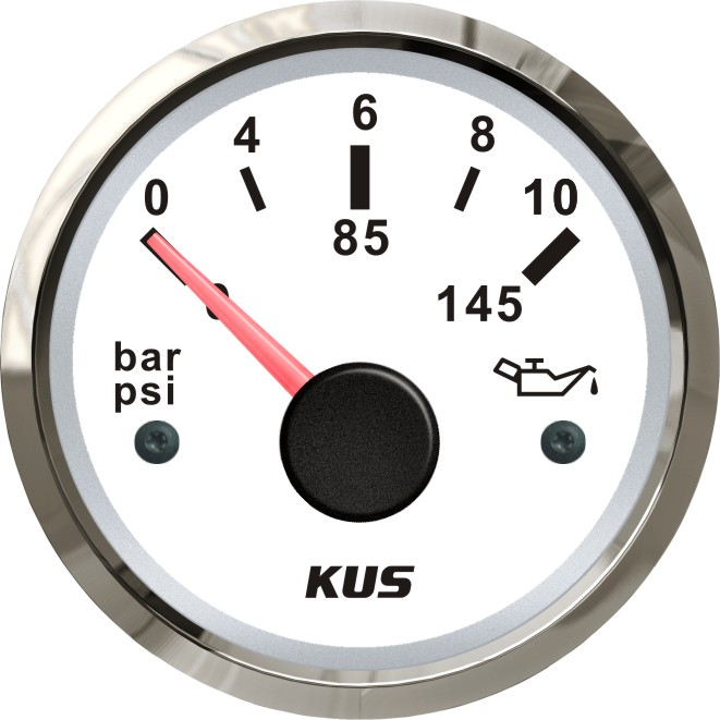 KUS 52MM Oil Pressure Gauge 0 145PSI Oil Pressure Gauge with Red and Yellow available Backlight