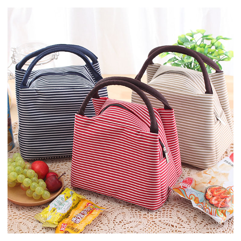 Thick Striped Insulation Bag Drink Refrigerated Package Insulation Lunch Bag Fresh Ice Pack Multifunctional Ice Bag Ice Box
