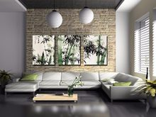 3 pieces framed Wall Art Picture Gift Home Decoration Canvas Print painting Ink painting bamboo wholesale/(China)