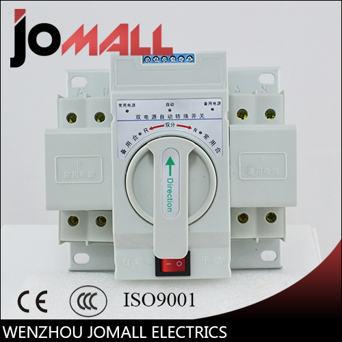 2P 63A 230V MCB type white shell Dual Power Automatic transfer switch ATS Rated voltage 220V /380V Pole 2 Ratedfrequency50/60Hz 63a 2p mcb type dual power automatic transfer switch household ats bipolar single phase 220 v