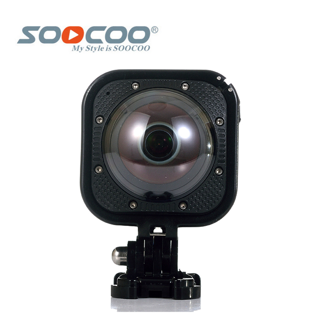Original SOOCOO Cube360F Wifi 1080P Full HD 360 Degree Panorama Camera 20m Waterproof Depth