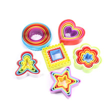 Cookie and Biscuit Cutter Set,Fondant& sandwich cutters in various sizes. Round, heart, flower, square,tree,star,gingerbread man(China)