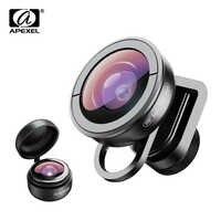 APEXEL optik telefon lens HD 170 derece süper geniş açılı lens Kamera için optik Lensler iphone xs max xiaomi tüm akıllı telefon