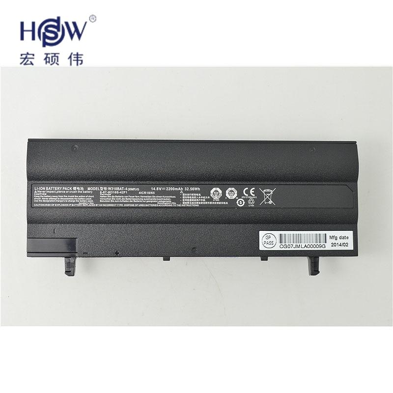 HSW genius  laptop battery FOR CLEVO 6-87-W310S-42F,W310BAT-4 for clevo W130 new and notebook battery batteria bateria