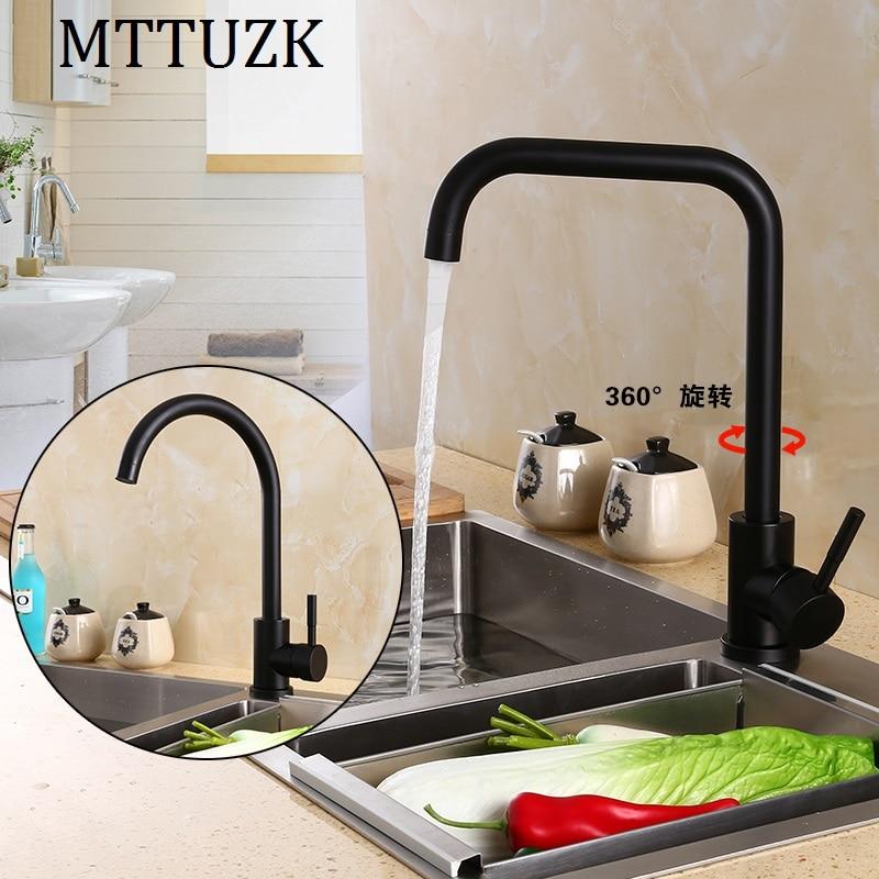 European High Quality Folding Kitchen Faucet Household: MTTUZK High Quality 304 Stainless Steel Black Folding