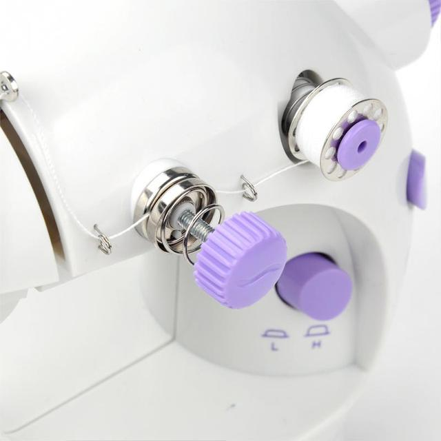EU plug NEW Handheld sewing machines Dual Speed Double Thread Multifunction Electric Mini Automatic Tread Rewind Sewing Machine