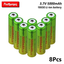 18650 LI-ION BATTERY 3.7V 5000MAH CELL For Gamepad Power Rechargeable batteries Lithium mbr cell power foot