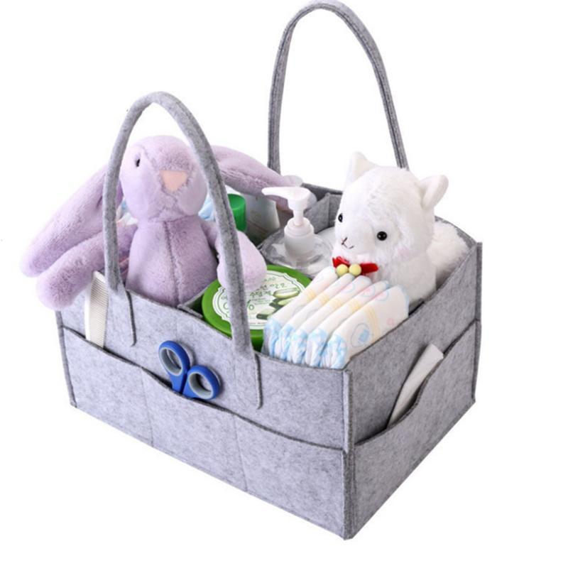 Portable Baby Wipe Storage Diaper Caddy Organizer Nursery Storage Baby For Diapers Wipes & Toys Storage Basket #R