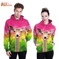 Alisister Couple Hoodies Men Women Sudaderas Hip Hop 3d Giraffe Animal Funny Hooded Sweatshirt Suit Unisex Harajuku Hoody XXL
