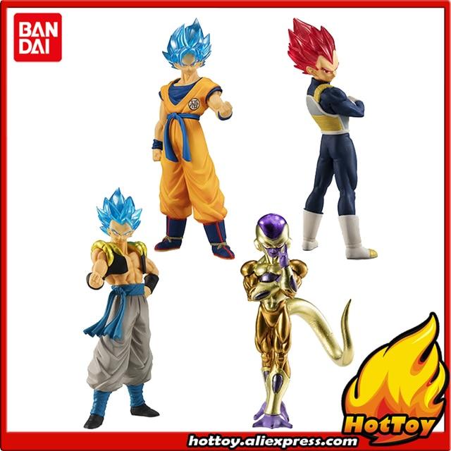 """100% 오리지널 반다이 하이 그레이드 리얼 피규어 HG 가샤 폰 PVC 완구 01 4 개 세트 Vegeta Goku Gogeta Freeza """"Dragon Ball SUPER"""""""
