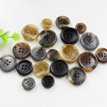 50pcs  4-holes Shank Button Wholesale High-grade Resin Pattern Imitation Suit Coat Buttons Freeshipping