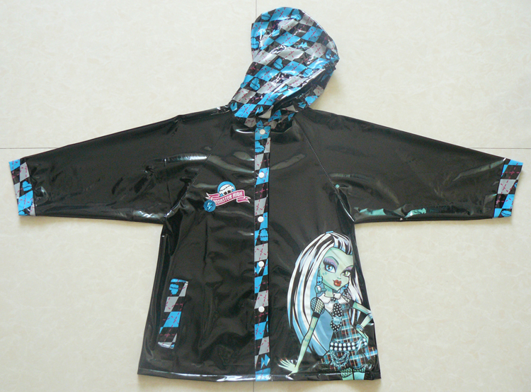 No.7 Monster high Fashion raincoat kids Frankie Stein rain ...