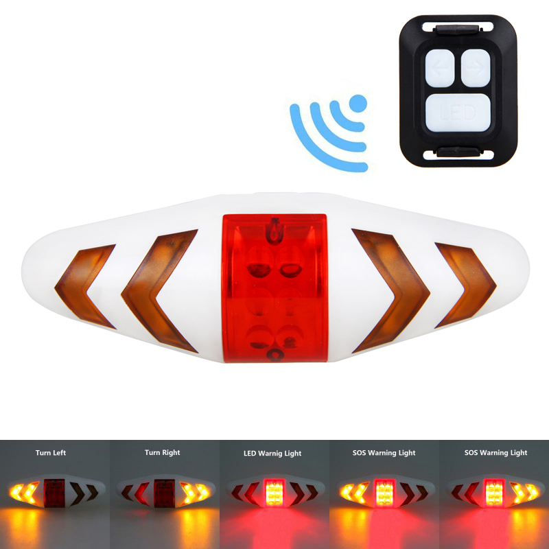 Remote Control Bicycle Cycling Rear TAIL LIGHT Safety Warning Bicycle Direction Lning Taillight Turning Control Signal Tail Lamp