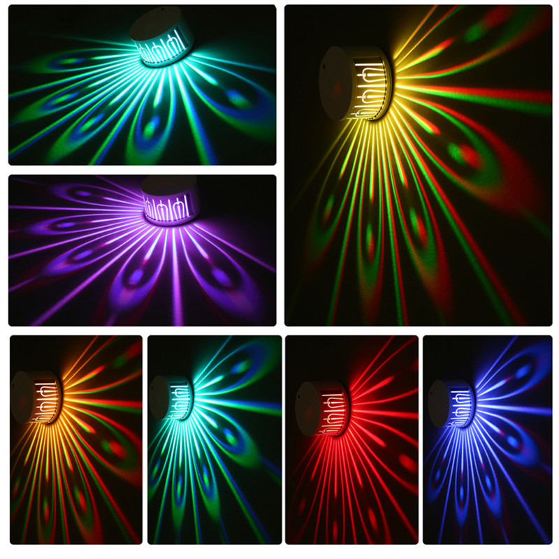 Colorful Peacock Projection Lamp Touching Remote Control Changeable Night Lamp TN99