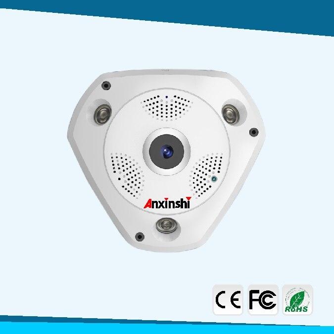 4MP HD рыбий глаз Беспроводная ip камера wifi 360 градусов Мини WiFi камера сеть Домашняя безопасность панорамный фотоаппарат ИК камера наблюдения - 2