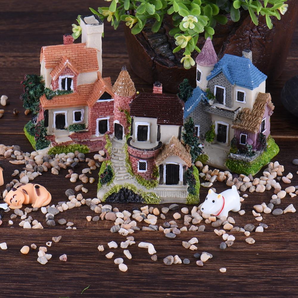 Miniature Resin Castle House Micro Landscape Fairy Garden Cottage Decor Crafts
