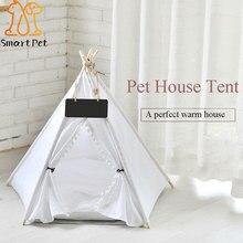 Smartpet Путешествия Крытый дом для домашних животных палатка деревянный питомник съемный кот собака уютный дом с коврик для животных колодки