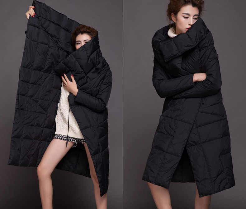 08a5f63d6f The new high-end European and American fashion winter down jacket big yards thick  cold