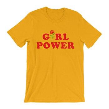 Феминистская рубашка вдохновляющая рубашка Феминистская футболка для девочек Мощность футболка в стиле tumblr битник рубашка цветок розы вес... >> ESOGO