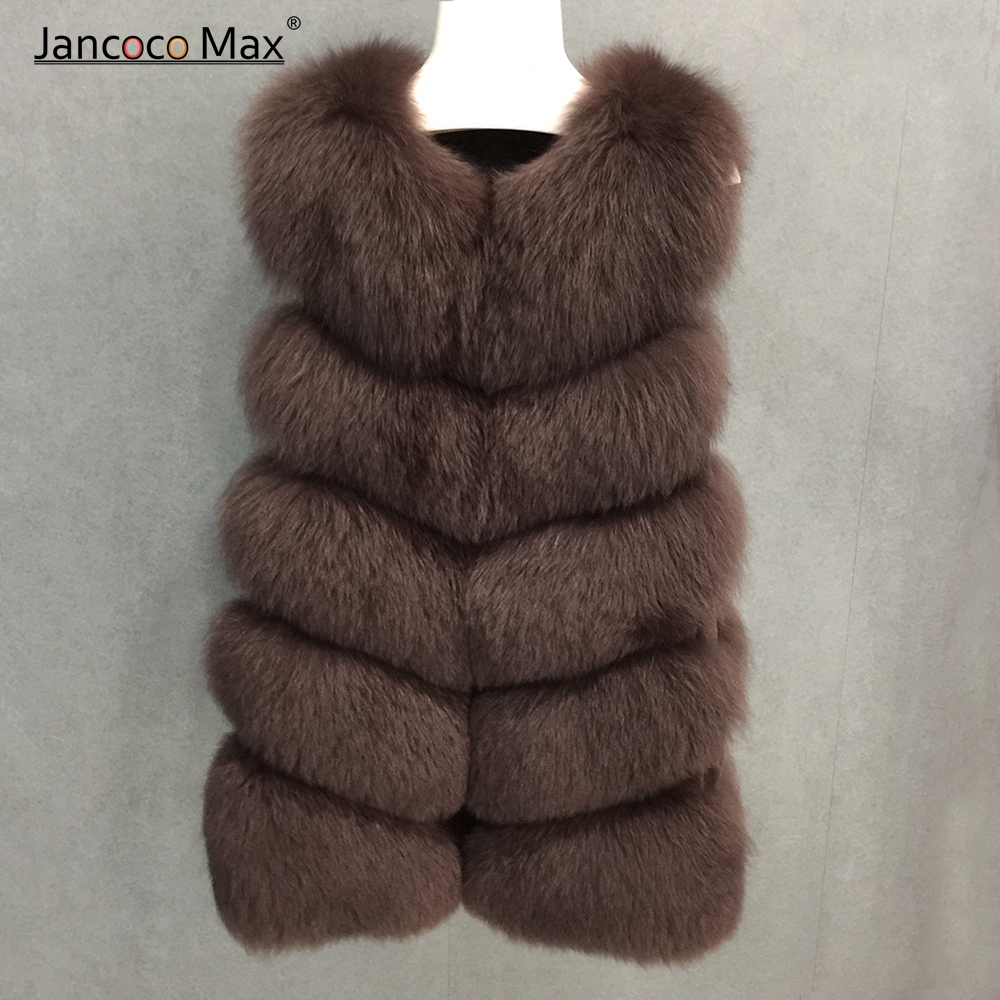 Women Fashion Style Real Fox Fur Long Vest Top Quality Winter Fur Gilets Thick Warm Waistcoat S1571 in Real Fur from Women 39 s Clothing