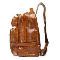 Многофункциональный из натуральной яловой кожи Для мужчин рюкзак кожаный рюкзак школы сумка рюкзак для путешествий рюкзак сумка хаки черн