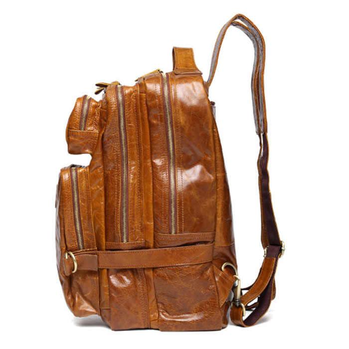 Многофункциональный мужской рюкзак из натуральной воловьей кожи кожаный школьный рюкзак сумка рюкзак для путешествий сумка хаки черный коричневый