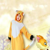 Winter Onesie Flannel Pajama Sets Adult Unisex Cosplay Animal Pajamas Fox For Adults Pajama Suit