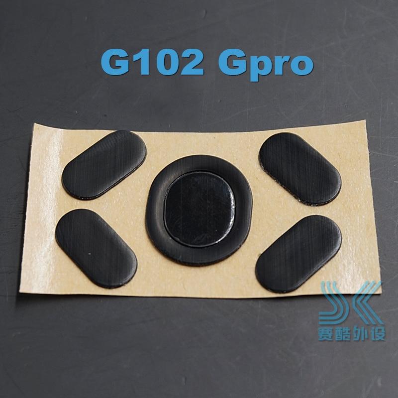 Teflon 3M Mouse Feet Skates For Logitech G100 G102 Gpro G300 G300s G302 G303 G304 G305 G400 G400S MX518 G402 Gaming Mouse 0.6MM