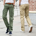 New Military Army Camouflage Cargo Pants Multi-pocket Overalls Trousers Men Khaki Army Green plus size 38 36 Free Shipping