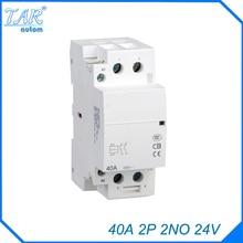 auxiliar de partida  40A 2P 24V 2NO 50 or 60HZ Din rail Household AC Contactor