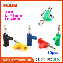 10pcs 4mm Metal Banana Plug Audio Speaker Amplifier Cable Wire Power Screw Jack Connector Adapter