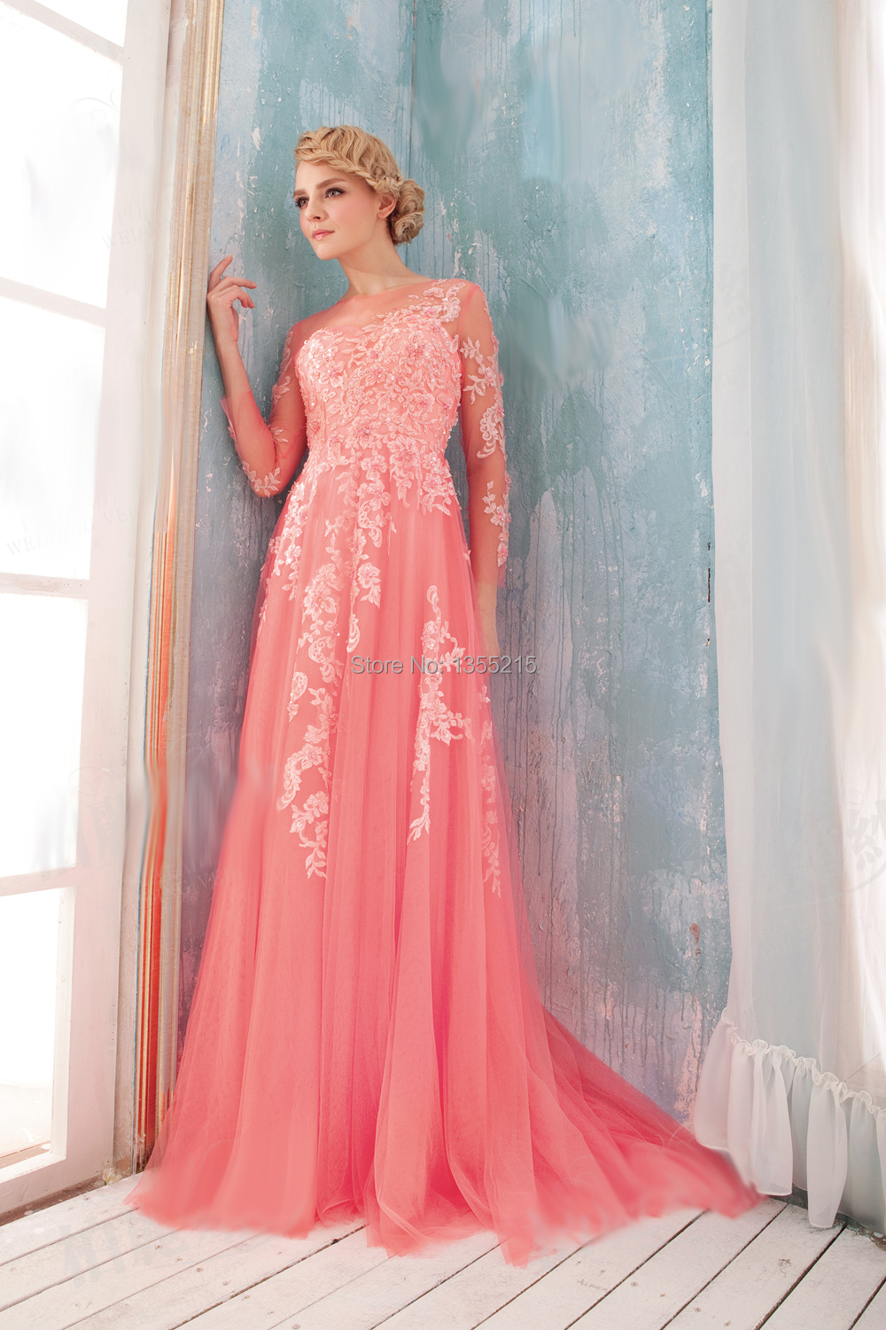 Classy Any Changes Requests Are Not Acceptable After Orderplaced Exceeds If Exceed Size Or Color Or Details Ofyour Custom Long Sleeve Formal Dresses Coral Prom Dress Long
