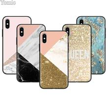 gold marble collage print Soft Phone Case for Apple iPhone 7 8 Plus X XR XS MAX Cases for iPhone 6 6s Plus 5S SE Case Coque цена и фото