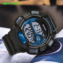 SANDA 2018 New Military Sport Watch Men Alarm 30M Waterproof Watches LED Back Light Digital Wristwatches Relogio Masculino 319