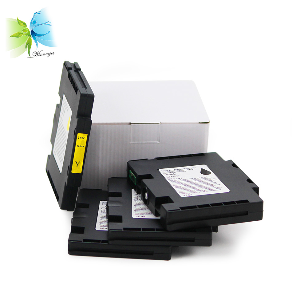 Winnerjet 5 sets GC41 compatible Cartridge For Ricoh SG 3110 3100SNW 3110DN 3110DNW 3110SFNW SNW 7100 7100DN printer