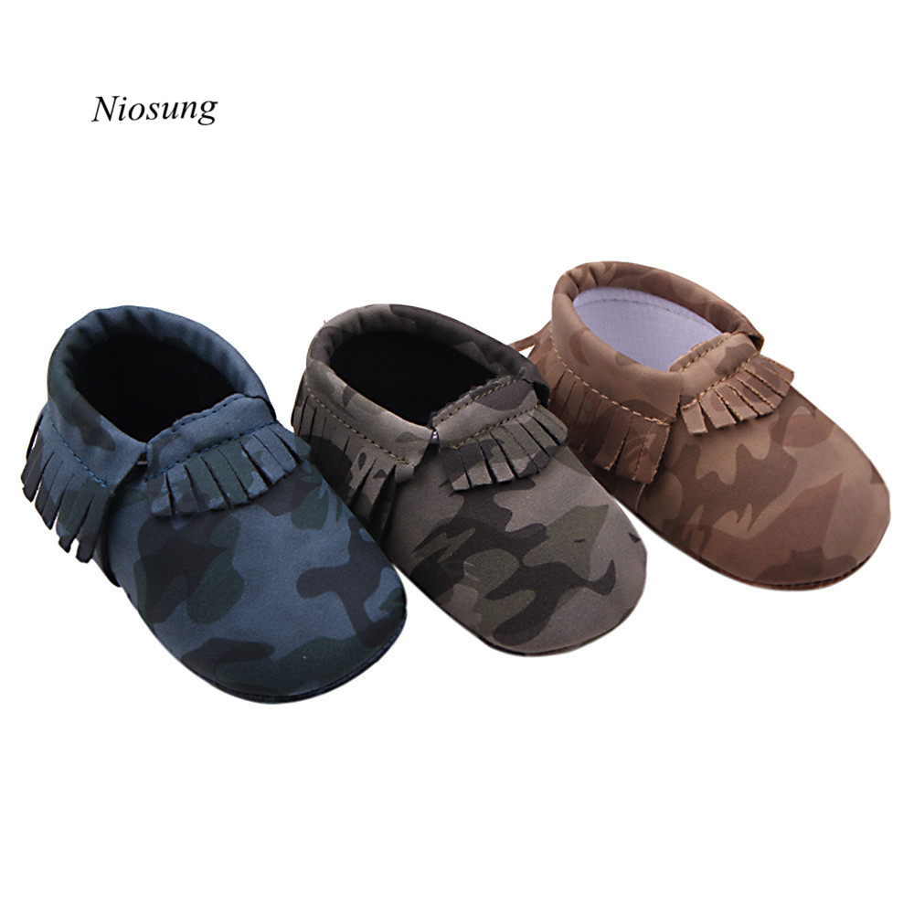 Niosung Baby Tassel Soft Sole Shoes Anti-slip Shoes Baby Boy Girl First Walkers Soft Sole Sneaker Toddler Shoes