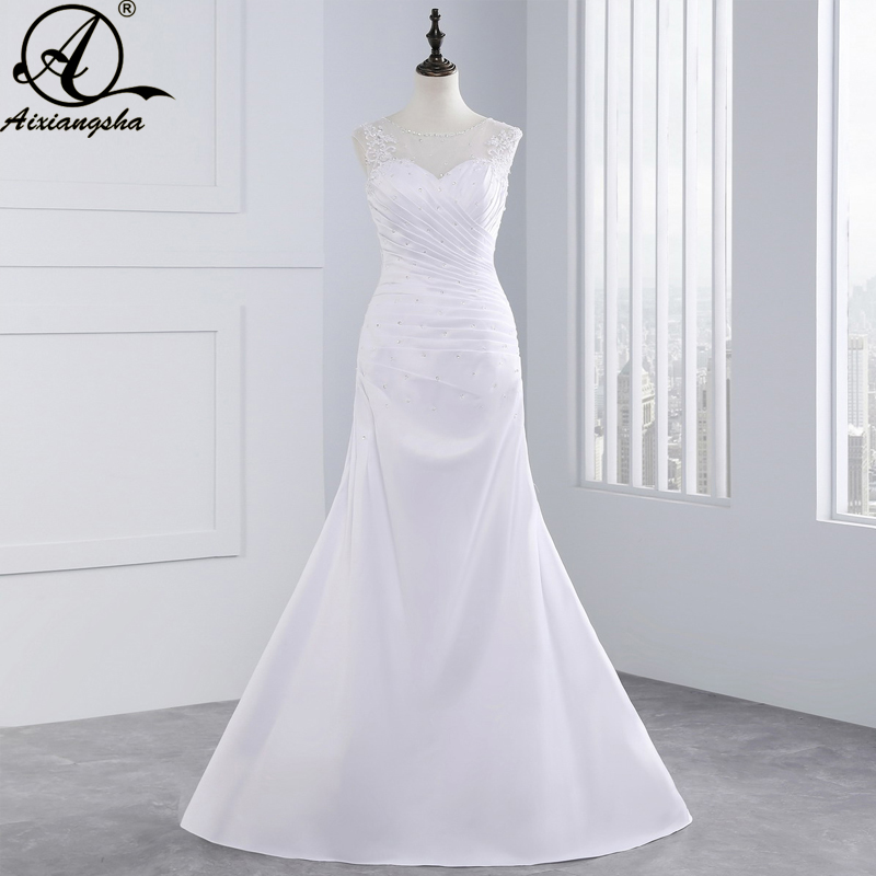 Wedding dresses 2018 In Stock New Plus Size WhiteIvory lace Wedding dress Wedding gown vestido de noiva fashionable New