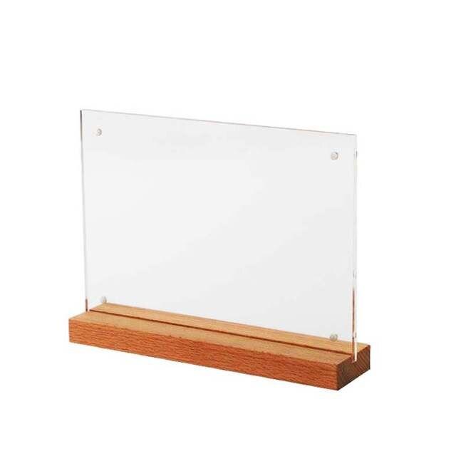 Us 64 8 10 Off A5 Wooden Picture Frame Label Frames Sign Price Card Display Stand Table Signage Rack Menu List Advertising Photo Holder Desktop In