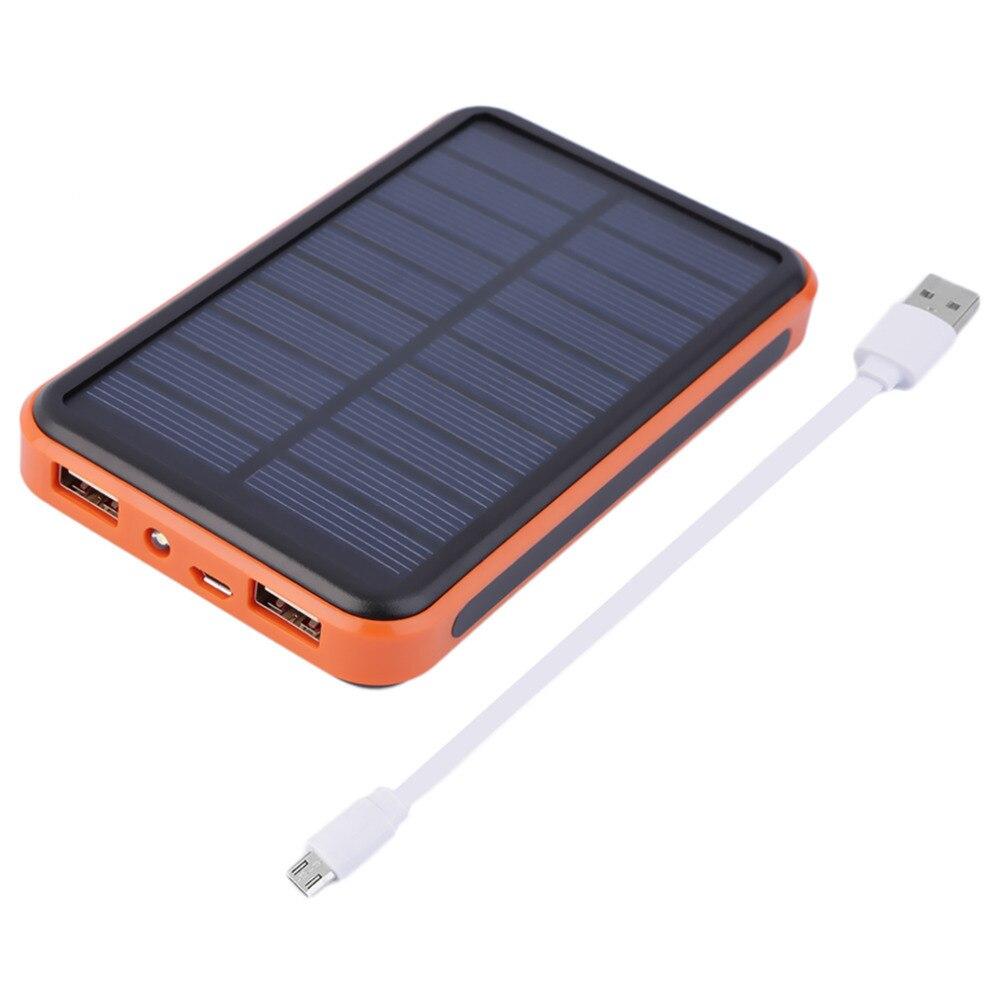 Цена за Новое поступление 2017 года 12000 мАч Водонепроницаемый Портативный Солнечный Мощность Bank USB Солнечный Зарядное устройство для смарт-мобильный телефон Прямая доставка