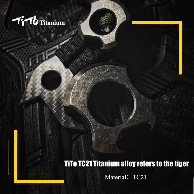 TiTo EDC Titanium Alloy Classic Gifts For Man Multipurpose Toy Tools Meteorite Keychain Outdoors Tools Titanium Spinner