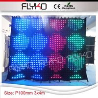 RGB3in1 colore completo P10cm 3X4 m china sexy video tenda led wall display hot video sipario led