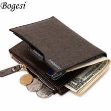 2016 Hot Fashion men wallets Bifold Wallet ID Card holder Coin Purse Pockets Clutch with zipper Men Wallet With Coin Bag Gift