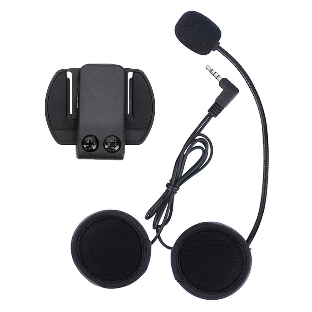 V6 V4 Accessories,earphone Microphone And Clip Compatible For V6 V4 Motorcycle Helmet Intercom Intercomunicador Motocicleta