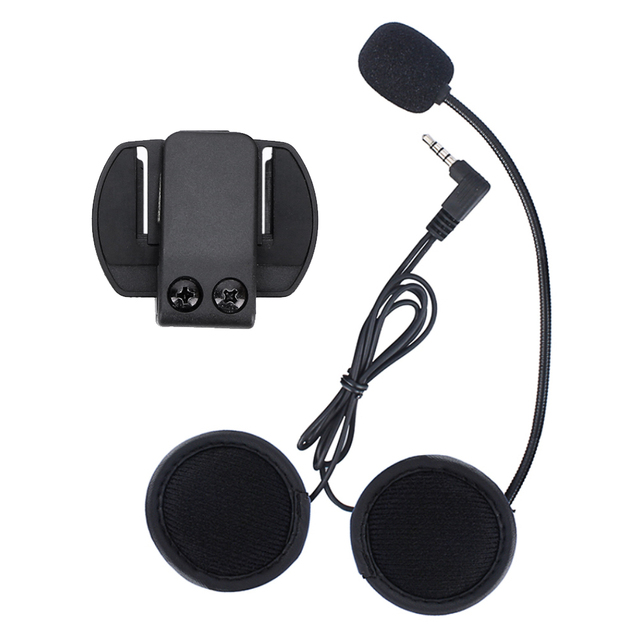 V6 accessories,earphone microphone and clip compatible for V6 motorcycle helmet intercom intercomunicador bluetooth motocicleta