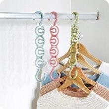 Junejour Универсальный Круг вешалка для одежды пластик шкаф вешалка для одежды шкаф хранения Волшебная Одежда сухой стойки Организатор