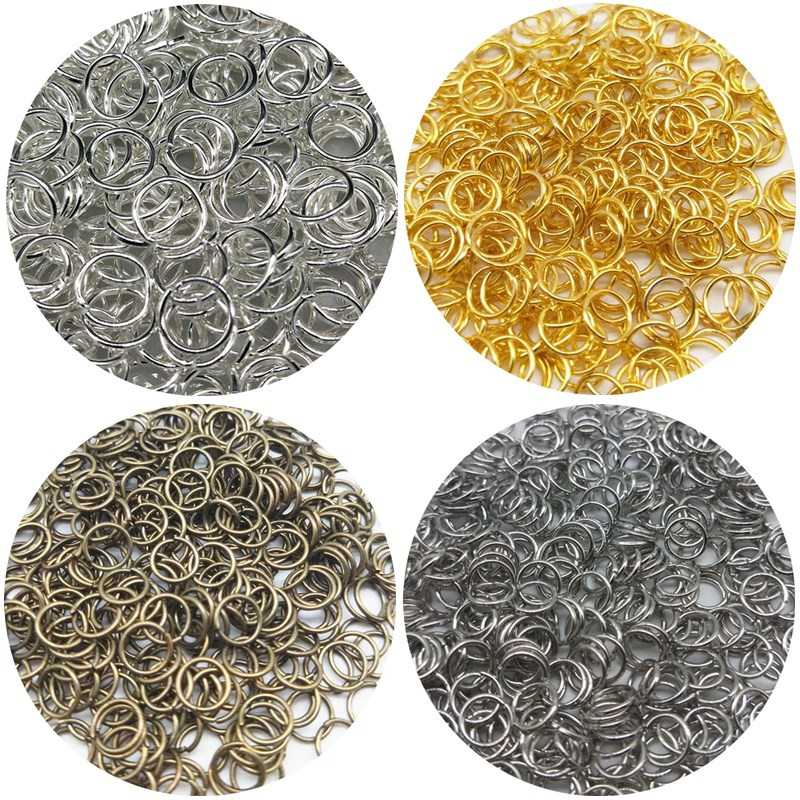 200/100pcs/lot 3/4/6/8mm New Cheap Beads Jewelry Findings Hot Open Jump Split Rings Connector