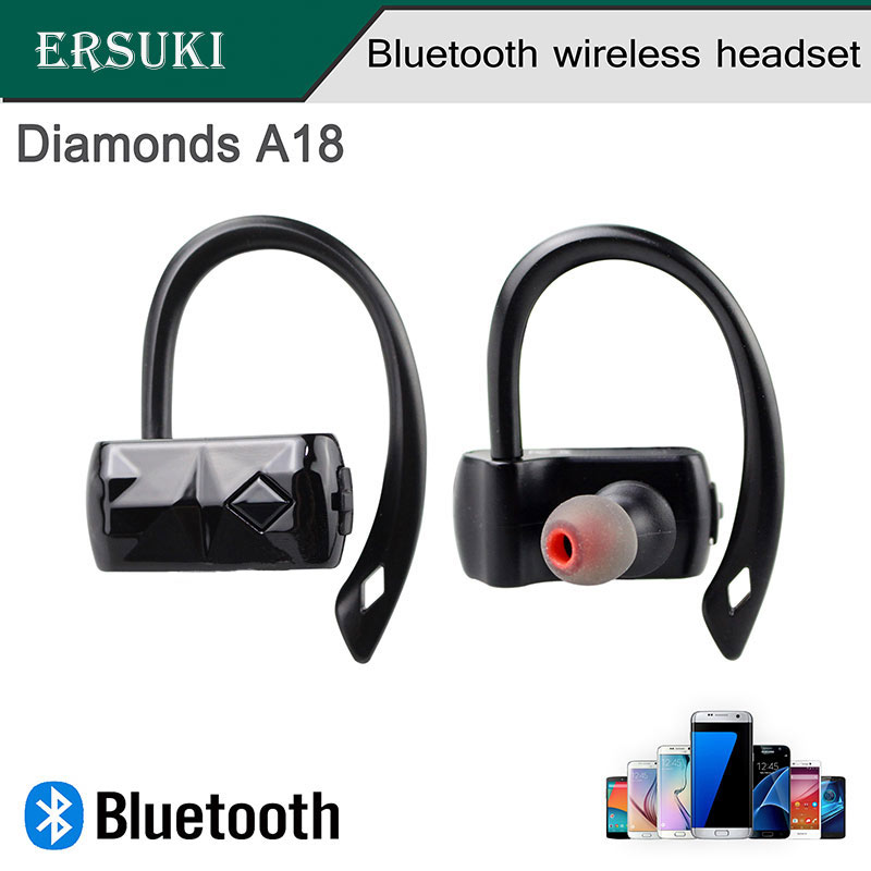 Ersuki Wireless Enhanced Bluetooth A18 Sluchátka Přenosný Binaural Sport Běh Sluchátka Vodotěsný pro Android IOS