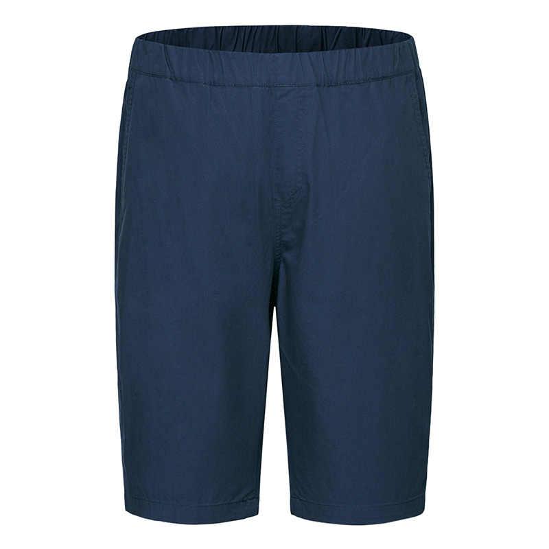 セミールレジャーの男性の綿ショーツ夏 2018 新カジュアル膝丈ショーツ無地黒ショート男性ズボン